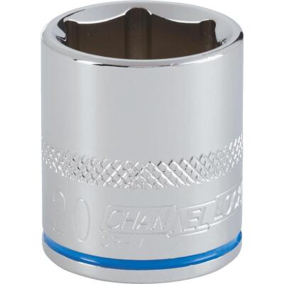 Channellock 3/8 In. Drive 20 mm 6-Point Shallow Metric Socket