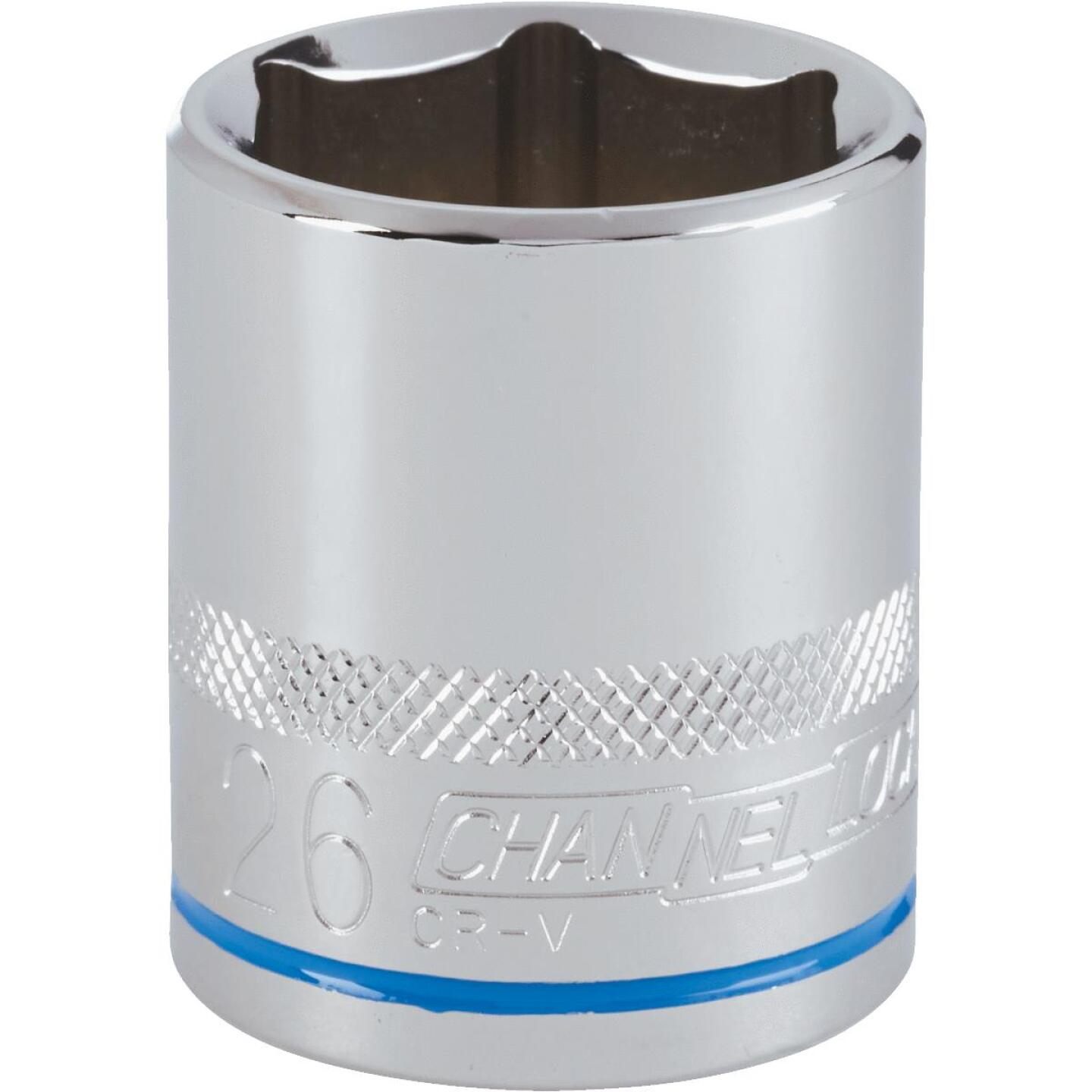 Channellock 1/2 In. Drive 26 mm 6-Point Shallow Metric Socket Image 1