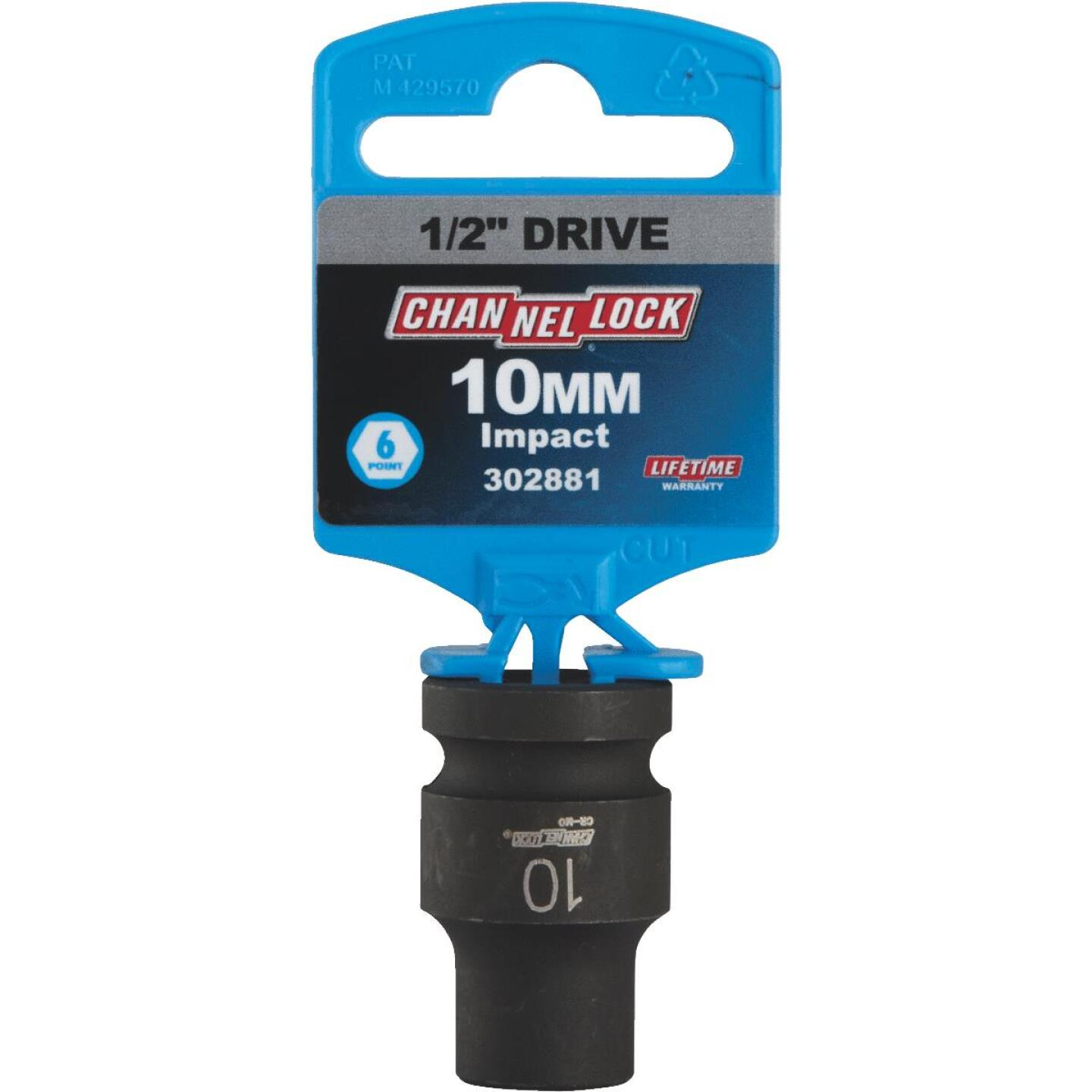 Channellock 1/2 In. Drive 10 mm 6-Point Shallow Metric Impact Socket Image 2