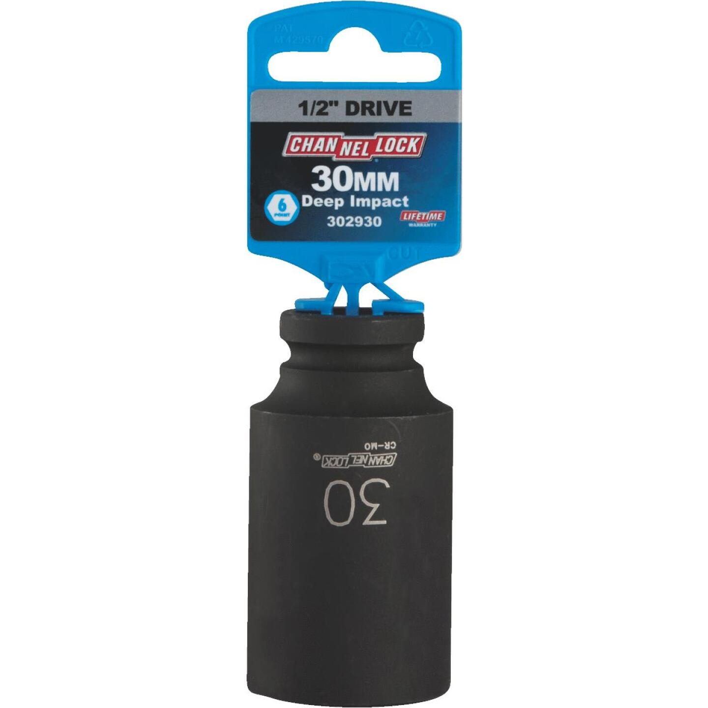 Channellock 1/2 In. Drive 30 mm 6-Point Deep Metric Impact Socket Image 2