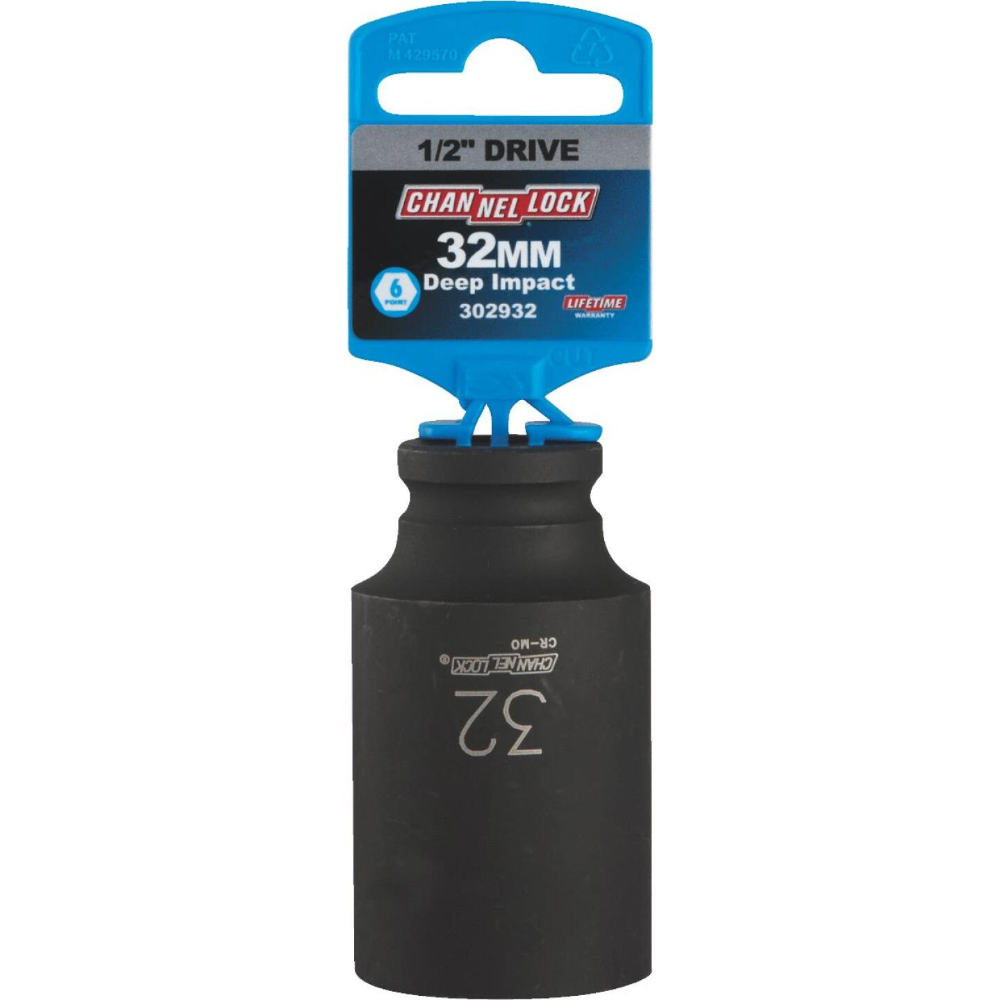 Channellock 1/2 In. Drive 32 mm 6-Point Deep Metric Impact Socket Image 2