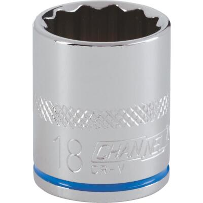 Channellock 3/8 In. Drive 18 mm 12-Point Shallow Metric Socket