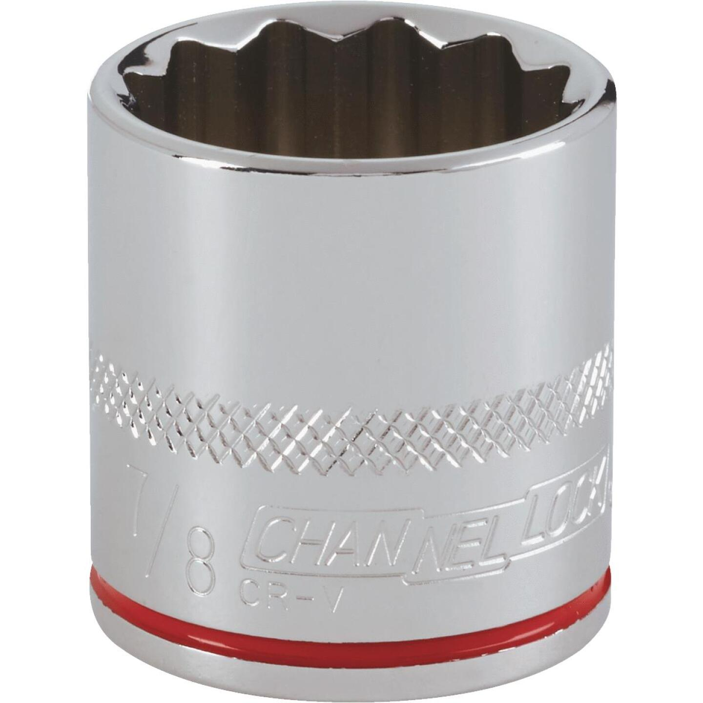 Channellock 3/8 In. Drive 7/8 In. 12-Point Shallow Standard Socket Image 1