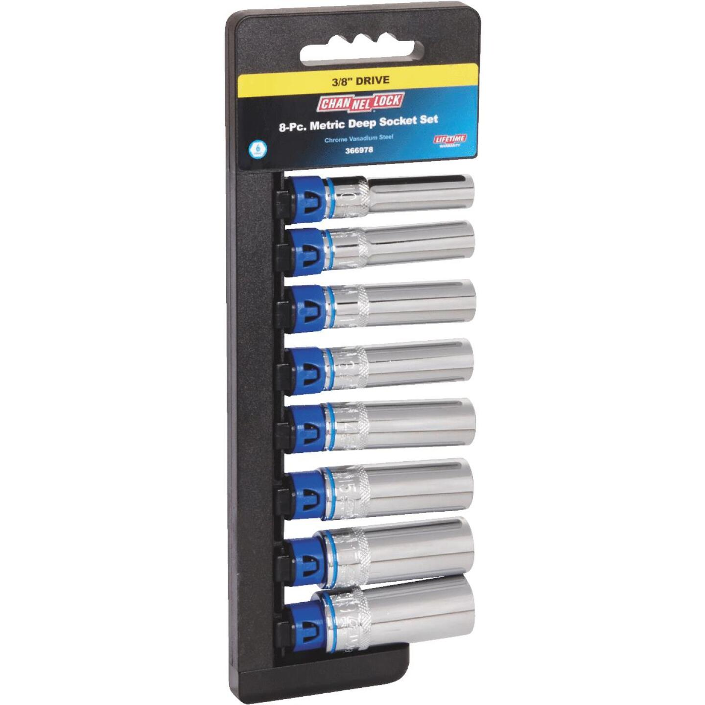 Channellock Metric 3/8 In. Drive 6-Point Deep Socket Set (8-Piece) Image 1