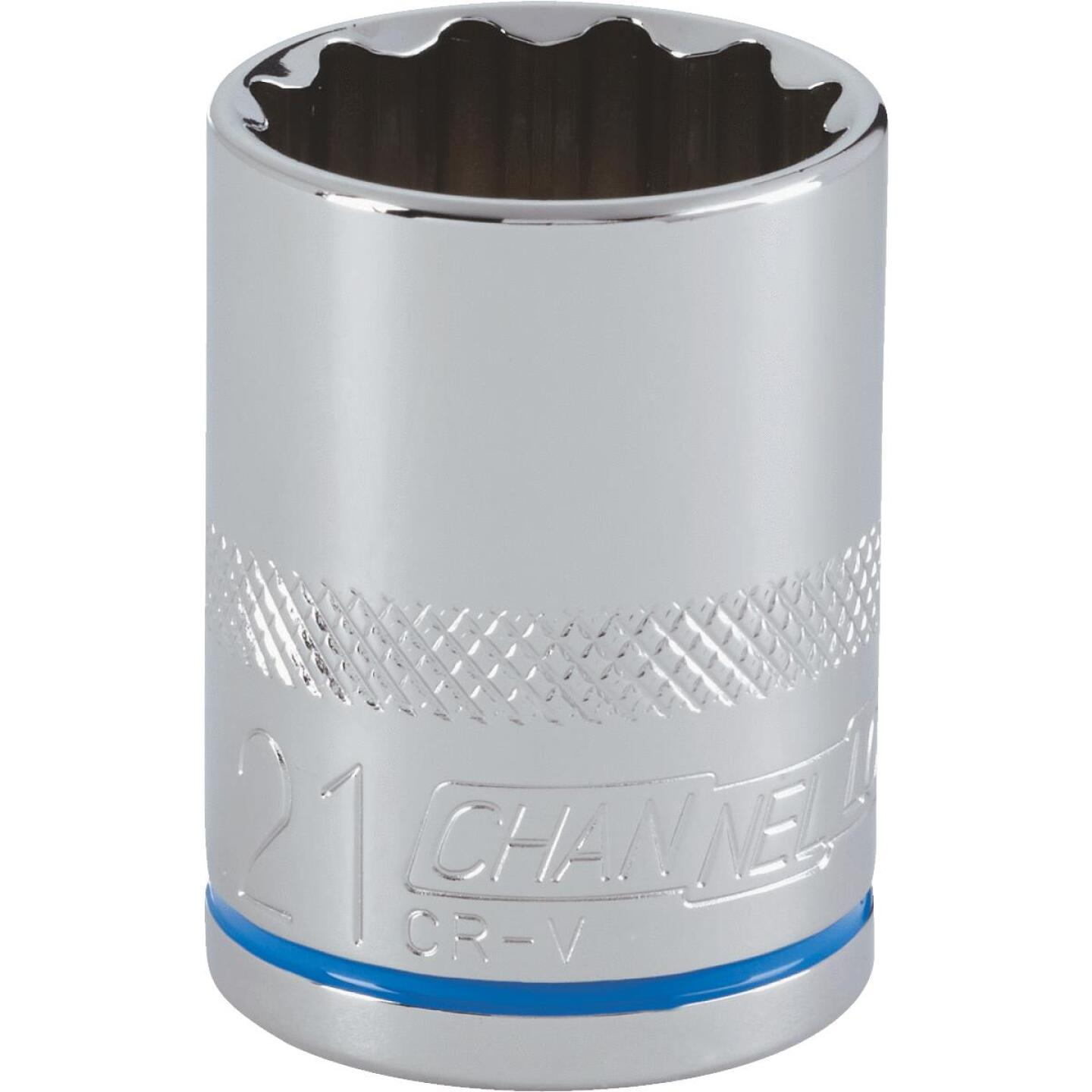 Channellock 1/2 In. Drive 21 mm 12-Point Shallow Metric Socket Image 1