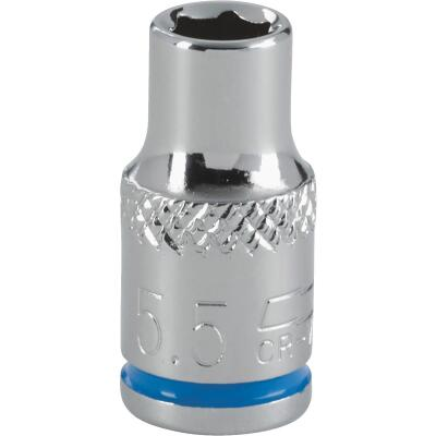 Channellock 1/4 In. Drive 5.5 mm 6-Point Shallow Metric Socket